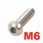 A2 Cap Button Screws - M6