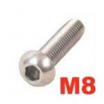 A2 Cap Button Screws - M8