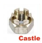 A2 Stainless Castle Nuts