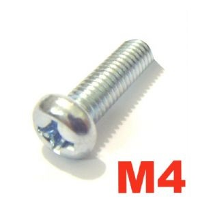 BZP JIS Philips Screws - M4